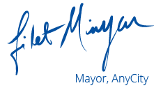 mayor's signature